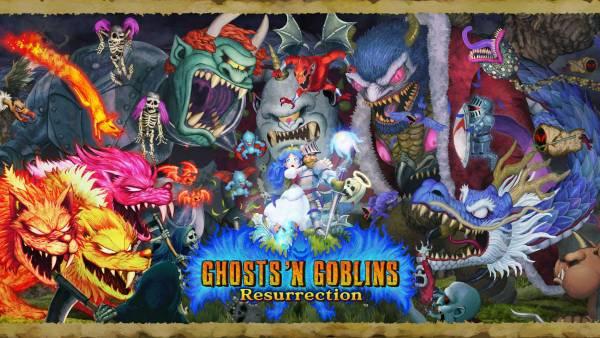 Visuel Ghosts 'n Goblins Resurrection / Kaettekita Makaimura (帰ってきた 魔界村) – Ghosts 'n Goblins Resurrection (Jeux vidéo)