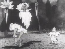 Visuel Le drôle de combat de deux figures historiques japonaises