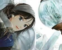 Wallpaper/fond d'écran Tempête de cristal / Kooru Sora, Sakou no Kuni (凍る空、砂鉱の国)–Freezing Sky & Placerland (Shōjo)
