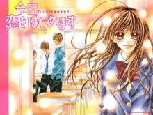 Wallpaper/fond d'écran Tsubaki Love / Kyou, Koi o Hajimemasu (今日、恋をはじめます) (Shōjo)