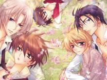Wallpaper/fond d'écran Paradis Secret / Himitsu de, Hanazono. (秘密で、花園。) (Yaoi/Yuri)