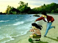 Wallpaper/fond d'écran Je peux entendre l'océan / Umi ga Kikoeru (海がきこえる) (Films d'animation)
